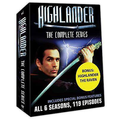Highlander The Complete Collection All 6 Seasons DVD Set TV Series 119 Episodes