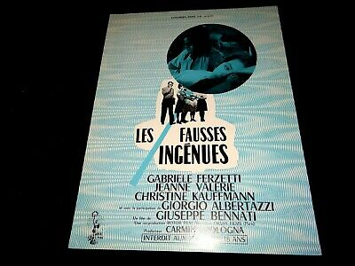 LES FAUSSES INGENUES Jeanne Valérie dossier presse cinema 1960