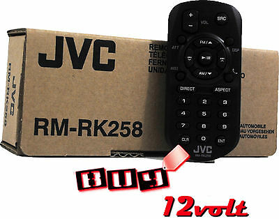 JVC RM-RK258 Remote Controller for Select JVC 2 Din Receivers