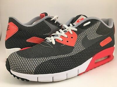 Details about NIKE AIR MAX 90 JCRD USED SIZE 11.5 WHITE DARK GREY BLACK INFRARED 631750 ATMOS