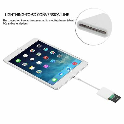 Lightning To SD Card Camera Reader Adapter Cable Apple IPhone IPad Air  Pro 3A
