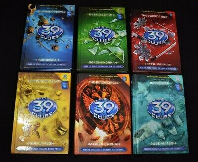 Lot of 6 ~ The 39 Clues ~ Hardcover ~ Book 1,2,3,4,5,6 EUC No Cards
