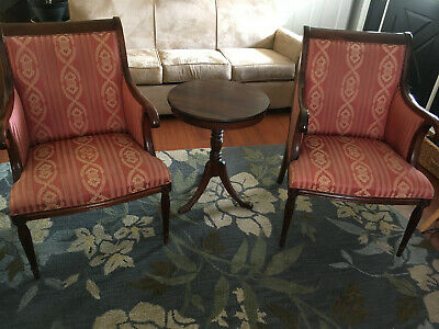 Pair of Vintage SOUTHWOOD Mahogany Armchairs Library Armchair/Accent Chair