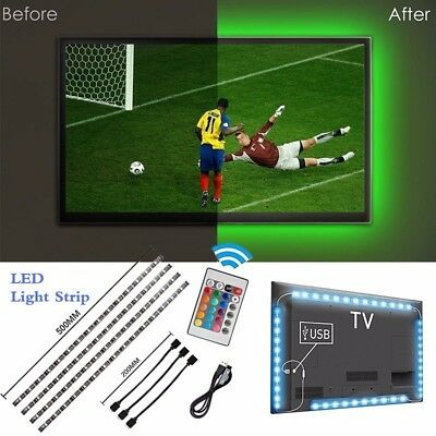 USB 5V LED Strip Light TV Backlight 5050 RGB Bias Light Color Changing Light Kit