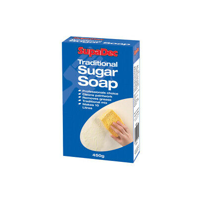 Supadec Traditional Sugar Soap 450G Cleans Paintwork Removes Grease Makes 10L