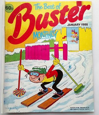 The Best of Buster Monthly January 1988 Collectable Childrens Kids Comic *