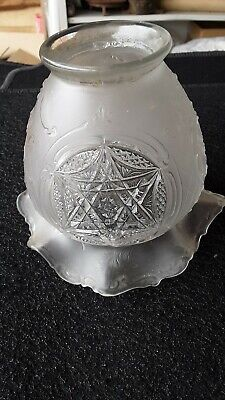 Antique Light Shade 21/4 fitter pressed glass frosted