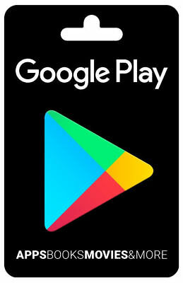 Google Play 100 USD Gift Card For Androids