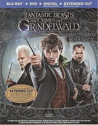 FANTASTIC BEASTS THE CRIMES OF GRINDELWALD BLURAY & DVD & DIGITAL SET-JK Rowling