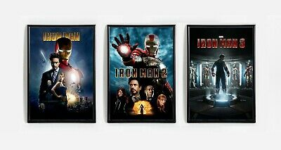 Iron Man 1 2 3 Trilogy Collector Movie Posters (Set of 3) Avengers - 11x17 13x19