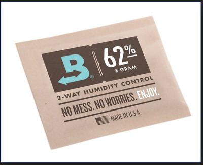 Boveda Humidor Replacement - 8g 62% - 12 Pack - 2 Way - For CVault 8 Gram