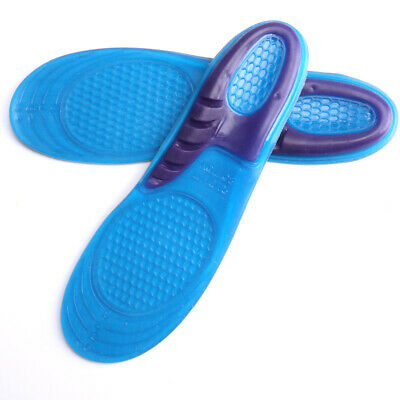 1pair Orthotic Arch Support Massaging Silicone Anti-Slip Sport Shoe Insole Pad