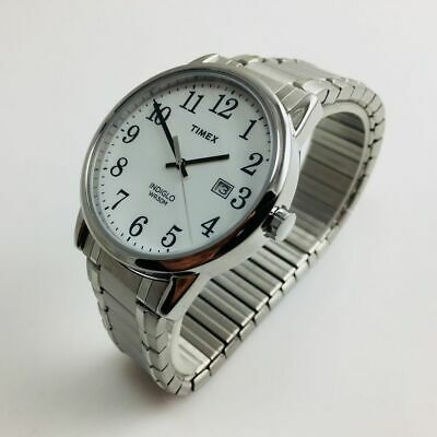 f90718c2a Men's Timex Easy Reader Stainless Steel Expansion Band Watch TW2P81300