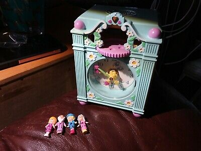 EUC 1991 Vintage Polly Pocket Funtime Clock *COMPLETE* Works!!