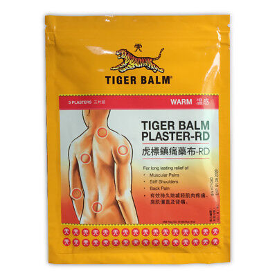 1Bag / 3Plasters Tiger Balm Patch Warm Medicated Pain Relief of Muscular Aches