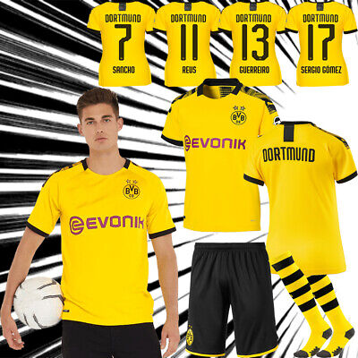 19/20 Yellow/Black Home Kit Kids Football Club Team Suit Adult Summer Jersey