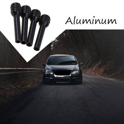 4pcs Aluminum Alloy Black Car Truck Black Door Lock Locking Knob Pull Pins Cover