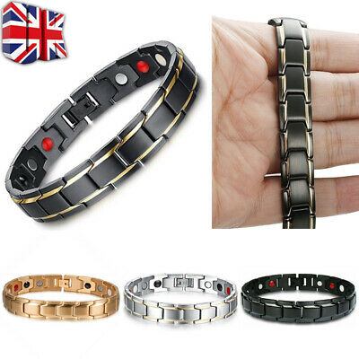 Therapeutic Energy Healing Bracelet Stainless Steel Magnetic Therapy Bracelet G
