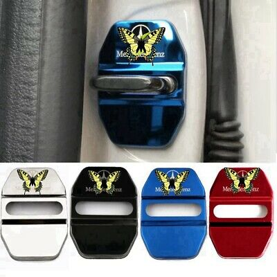 4PCS AUTO DECORATIVE ACCESSORIES Stainless Steel CAR DOOR LOCK PROTECTIVE COVERS