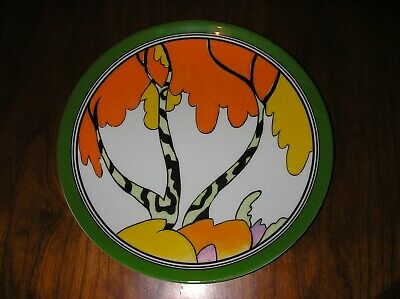 Clarice Cliff Hand Painted Honolulu Design Plate By Wedgwood In Pristine Cond