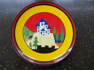 Clarice Cliff Hand Painted Blue Lucerne  Plate By Wedgwood Boxed + Certificate
