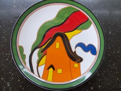 Clarice Cliff Hand Painted Orange House Plate By Wedgwood Boxed + Certificate
