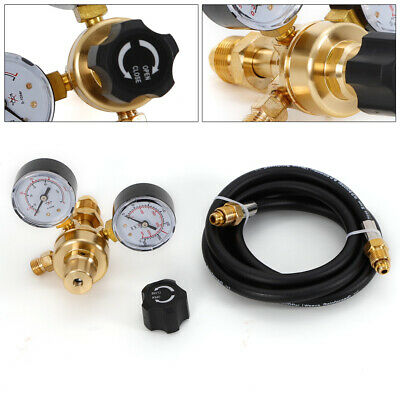 Argon or Argon/CO2 Mix Regulator with 10 fit Hose for Mig Tig Welding Brass Body