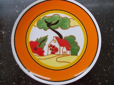 Clarice Cliff Hand Painted Red Roofs  Plate By Wedgwood Boxed + Certificate