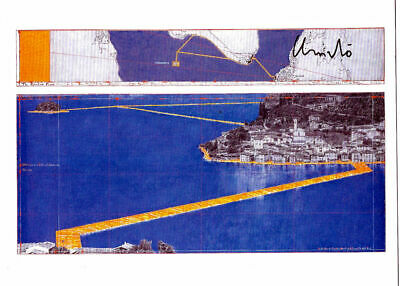 Christo & Jeanne Claude Floating Piers Taschen 17 x 12,7 cm hand signed