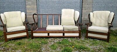 Vintage Ercol Style Fireside Suite