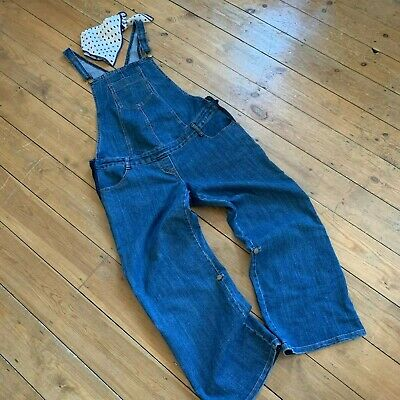 Dungarees  Uk 16 44 Maternity Blue Denim Long Or Cropped Mothercare