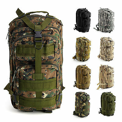 Outdoor 30L Military Tactical Army Backpack Rucksack Camping Hiking Trekking Bag