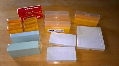 Job Lot 35mm Slide Boxes 10/20/40 Per Box 16 Boxes all in Very Good Condition