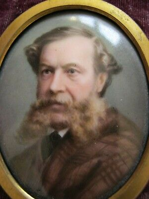 VICTORIAN EDWARDIAN MINIATURE PAINTING POSSIBLY of a SCOTTISH GENTLEMAN