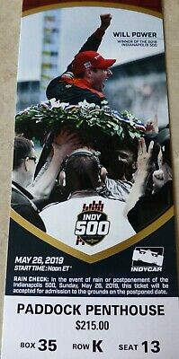 3 Tickets For The Indianapolis 500 Paddock Penthouse 2019