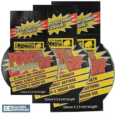 EVERBUILD Heavy Duty Double Sided Strong Adhesive Tape / Sellotape ALL SIZES