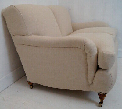 A Howard Style 2 Seater Sofa - Linwood Tuscan Linen Upholstery