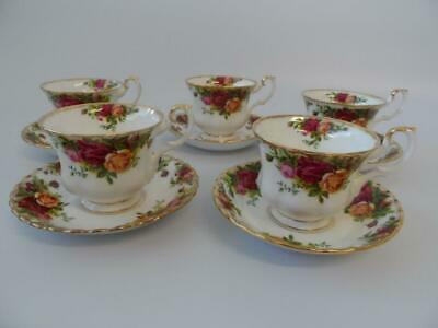 Royal Albert Old Country Roses 5 X Tea Cups And Saucers England
