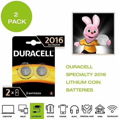 *Brand New* Duracell Specialty 2016 Lithium Coin Battery, 3V - 2 Pack