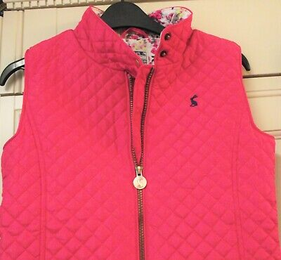 Joules Girls - Jilly - Fuchsia Pink Quilted Gilet/Bodywarmer - Age 11-12 - ONCE