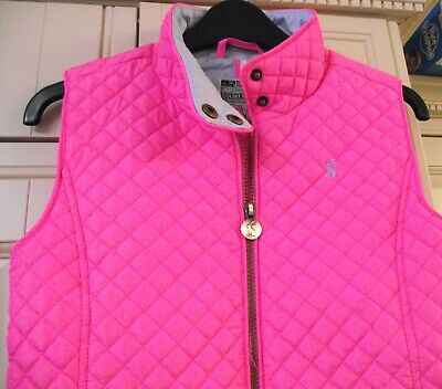 Joules Girls - Silvan - Rose Pink Quilted Gilet/Bodywarmer - Age 11-12 - ONCE