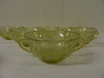 Vintage Depression Federal Glass Recollection Clear Madrid Pattern Soup Bowl