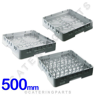 CAMBRO 3 x QUALITY DISHWASHER RACK SET - CUTLERY GLASS & PLATE 500 x 500 x 100