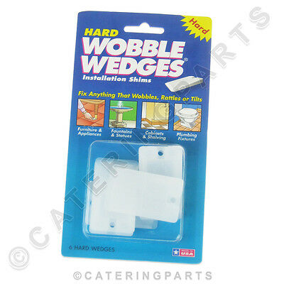 Hard Wobble Wedges Pack Of 6 Tapered Plastic Shims For Appliance Feet Table Legs