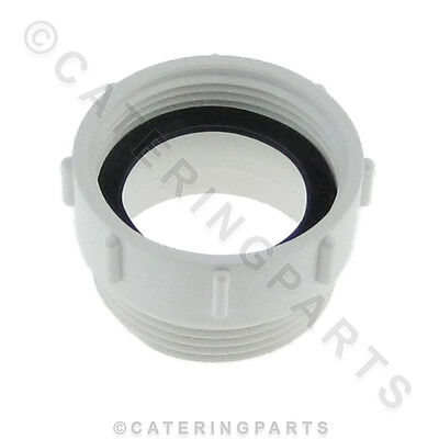 """Wf2 Plastic Trap Adaptor For Deep Commercial Sink Waste / Strainer Fittings 1½"""""""