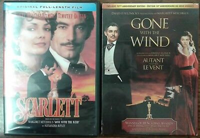 GONE WITH THE WIND & Scarlett sequel 4-Disc Set Dalton Gable Leigh Kilmer