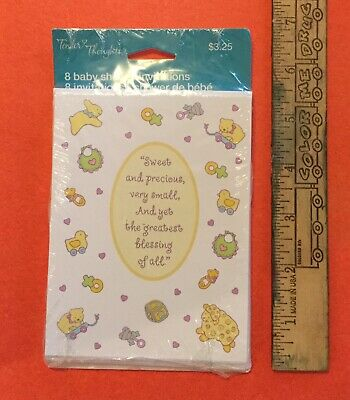 8 New Tender Thoughts Baby Shower Invitations With Toys For Boys Or Girls