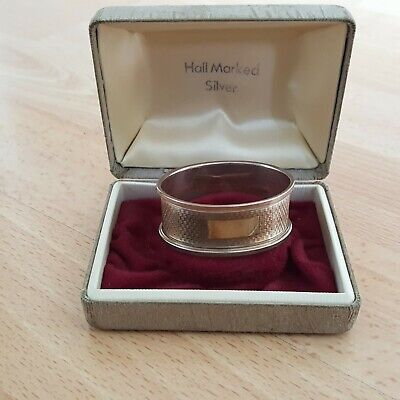 Antique Hall Marked Silver Napkin Ring