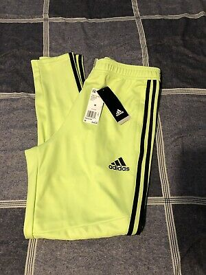 Adidas Mens Hi Res Yellow Tiro 19 Climacool Soccer Training Pants Joggers Medium