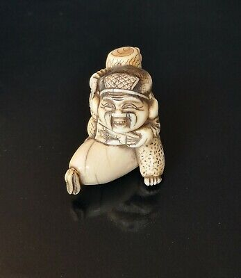 Japanese Antique netsuke 19th century stag antler